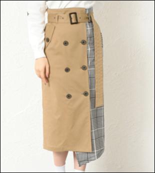 私定時で帰ります(2話)吉高由里子(結衣)のスカートの衣装ブランド!6