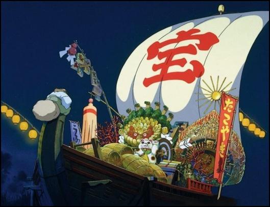 [平成狸合戦ぽんぽこ]変身しないたぬきはなぜ宝船に?死出の旅とは?2