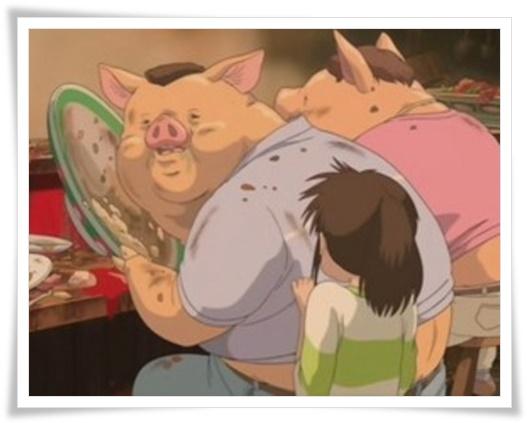 [千と千尋の神隠し]豚になった両親がなぜわかった?当てる理由を考察3