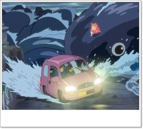 [崖の上のポニョ]リサが津波で家に戻って老人ホームへ行った理由は?4